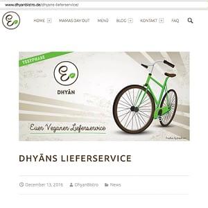 Dhyāns Lieferservice Web Banner Design Mainz