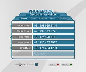 UX/UI Design for IPTV Phonebook App – Edit View