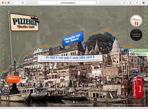 Pizzeria, Vaatika Café Homepage Design Varanasi