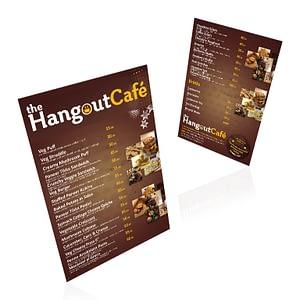 The Hangout Café Pamphlet Design