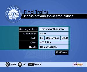 UX/UI Design for IPTV Indian Railways Reservation App