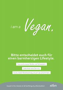 i am a Vegan A2 Poster Thumbnail