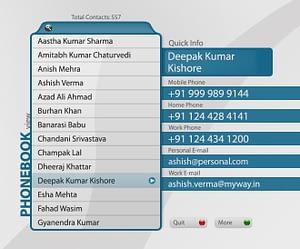 UX/UI Design for IPTV Phonebook App – List View