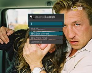 UX/UI Design for IPTV – Channel Search Widget List View 1