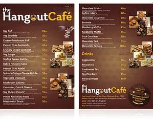 The Hangout Café Menu Design