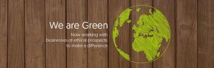 Ether Studio We Are Green Website Slider Design