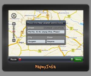 GPS Navigation IPTV App UI Design