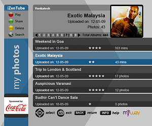 UX/UI Design for IPTV Media Sharing App – Inbox View