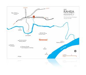 SDS Raheja Residency Map Design