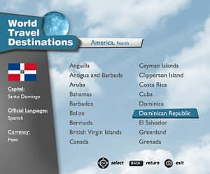UX/UI Design for IPTV Travel Guide App – Countries View