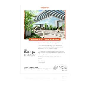 SDS Raheja Realty Project Launch Event Invitation Design Varanasi