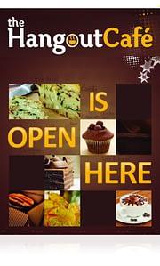 The Hangout Café Poster Design