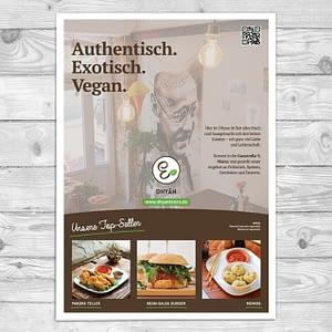Dhyān Vegan Bistro Sensor Newspaper Advertising Design Mainz