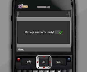 UX/UI Design for IPTV Messaging App – Message Sent