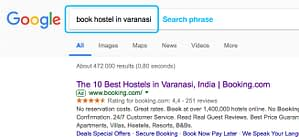 SEO Case Study – International Travellers Hostel – Search Phrase