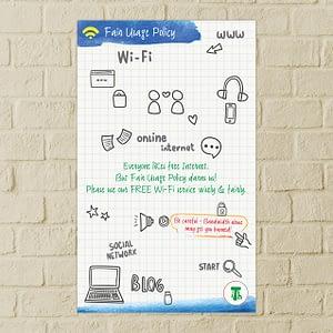 ITH Hostel Wi-Fi Poster Design Varanasi