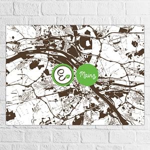Dhyān Vegan Bistro Karte Illustration Mainz