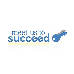 Meet Us To Succeed Logo Design Gurugram