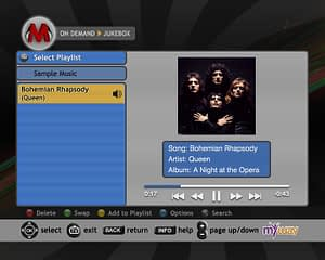UX/UI Design for IPTV Music on Demand App – JUKEBOX-Master List-Sample Music Player